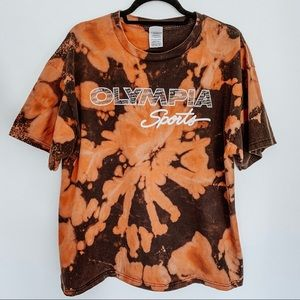Olympia Sports Bleached Tie Dye T-Shirt